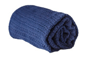 Abeille Soft Cotton Cellular Blanket Navy