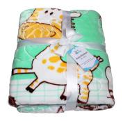 Boy & Girl Baby Blanket Fleece Super Soft With Animal Print, Luxury