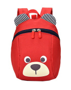 GZHOUSE Child Cute Bear Harness Backpacks with Reins Kids Bags Toddlers Padded for 1-3 Years Baby
