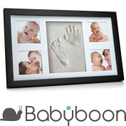 Baby Hand and Footprint Photo Frame Kit ® Babyboon | 4 COLOURS IN ONE PACK | Non-Toxic & NON CRACKING Air Dry Clay | The Perfect Keepsake for a Baby Shower or Christening Gift | Fantastic Impressions of Hands and Foot - TRY NOW !