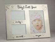 Baby's First Year Picture Frame- baby's first year first day and first month picture frame. Ideal as a gift for new parents or mum and dads to be. REcord those special times that you never get back!