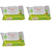 Vital Baby Super Fragrance Free Hand and Face Wipes Pack of 3