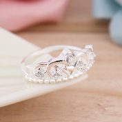 New Crystal Rhinestone Crown Ring For Women Cute Elegant Luxury Party Engagement Party Ring Fashion Jewellery Halloween Prepared For The Surprise