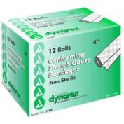 Dynarex Conforming Stretch Gauze Bandages, Non-Sterile 4 Inchx4.1 Yards - 12 Rolls/Box