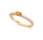 Vianna Brasil Neoclassic Collection 18ct Gold Stackable Ring - Size N