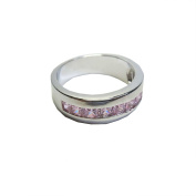 Samira Modern Band Ring with Pink Sapphire