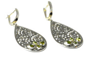 PERIDOT Sterling Silver 925 Gemstone Earrings -