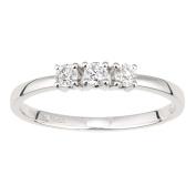 Naava 18ct White Gold Diamond Trilogy Ring