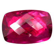 2.98 Ct PGTL Certified AAA Grade Cushion Cut (10 X 7 mm) Reddish Pink Rubellite Tourmaline Loose Gemstone