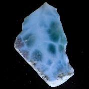 62.00Cts. 100% Natural Sky Blue LARIMAR ROUGH SLAB Speciman Dominican Republic