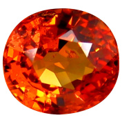 0.82 ct AAA+ Grade Oval Shape (6 x 5 mm) Genuine Ceylon Orange Sapphire Natural Loose Gemstone