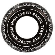 90cm Black and White Radial Tyre Inflatable Swimming Pool Inner Tube Ring Float