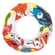 50cm Clear Ocean Fun Children's Inflatable Swimming Pool Inner Tube Ring Float