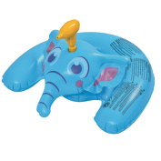 90cm Blue Inflatable Ride-On Elephant with Squirter Swimming Pool Toy