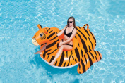 2.3m Water Sports Inflatable Giant Tiger Swimming Pool Ride-On Lounger