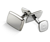 M-CLIP TAPERED RECTANGLE Brushed Stainless Cufflinks