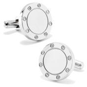 Stainless Steel Engravable Bolted Cufflinks