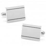 Ox and Bull Men Stainless Steel Engravable Frame Dress Fashion Novelty Cufflinks