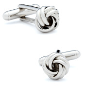 Ox and Bull Men Plated Silver-Tone Knot Dress Designer Fashion Novelty Cufflinks