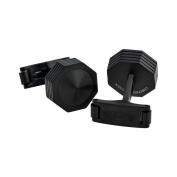NeroUno IDNACLBK All Black PVD Brass Cufflinks LIMITED EDITION