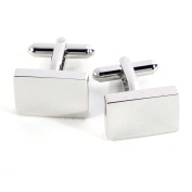 Bey-Berk Rhodium-Plated Cufflinks