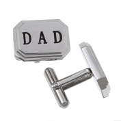 Stainless Steel 'Dad' Cuff Links