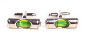Working Green Level Cufflinks Gift Boxed