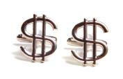 Simplicity Dollar Sign Money High Roller Bill Cash Copper Cufflinks w/Box
