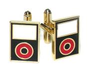 Gold-Tone Men's Cuff Links Black MP3 Player Cufflinks