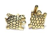 Gold-Tone Men's Cuff Links TURTLE Shaped Cufflinks