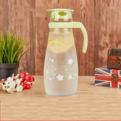 Glass pitcher,Water carafe Glass water jug High temperature resistance Large capacity Cold canteen Juice jug-B
