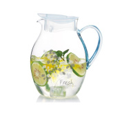 Glass pitcher,Water carafe Heat-resistant [high temperature] Juice jug Large capacity Glass water jug Household use-A