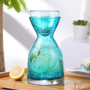 Glass pitcher,Glass water jug Household use Water carafe Water glass High temperature resistance Explosion-proof Large capacity-A