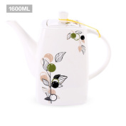 Ceramic cold kettle Glass pitcher European style Teapot Large capacity Glass water jug Cold water glass kettle-B