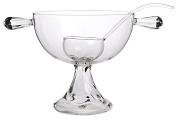 Gabriela Seres 12.316 + 12.320 Raluca Punch Bowl and Dish/Glass, 48 x 31 x 35 cm transparent