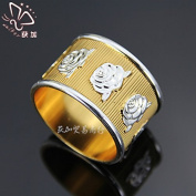 Metal alloy meal button rose napkin ring, 12pcs , gold