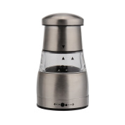 Stainless Steel Salt and Pepper Grinder, Manual Pepper Mill Salt Grinder with Adjustable Coarseness, Large Capacity, Ceramic Rotor and Clear Acrylic Window 1 Pcs