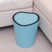 Kitchen trash, colour heart-shaped living room garbage cans press the flip
