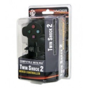 PS2 Wired Hydra Twin Shock 2 Controller for Sony Playstation 2 Black