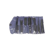 Mezzo Etude Hairstyling Kit with 6 Combs and 1 Vent Hairbrush Blue