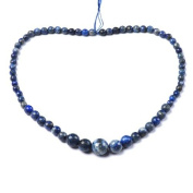 Strand of 60+ Blue Lapis Lazuli 6-12mm Faceted Graduated Round Beads - (CB48115) - Charming Beads