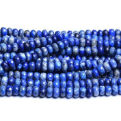 Strand of 70+ Blue Lapis Lazuli 5 x 8mm Faceted Rondelle Beads - (CB31056) - Charming Beads