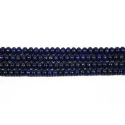 Strand of 60+ Blue Lapis Lazuli 6 x 8mm Plain Rondelle Beads - (CB46397) - Charming Beads