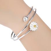 drawihi Lotus of Silver Bracelet Fashion Girls Women Bracelet New Style for Women Jewellery Accessories