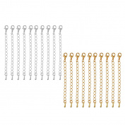 MagiDeal 20pcs Extension Link Chain Necklace Extenders Jewellery Making Findings 75mm