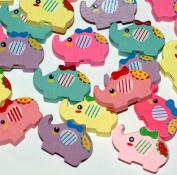 Wooden Elephant Beads for Children ~ Beading KIT ~ Great Christmas Stocking Filler and Birthday Party Bag Filler