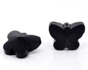 10 X Black Crystal Glass Butterfly Beads 15 X 12 mm …