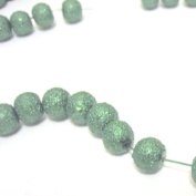 100 Pcs 6mm Textured Glass Pearl Beads - moon effect surface - KB0724 / 6mm Emerald Green