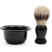 Cosprof Shaving Brush & Shaving Soap Bowl for Men Beard Cleaning Tool As Christmas Gift