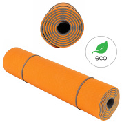 Yoga Mat KeenFlex - SGS Certified, Extremely Comfortable Non Slip Extra Long 6mm Thick for Home Exercise Pilates Eco Friendly + Carry Strap